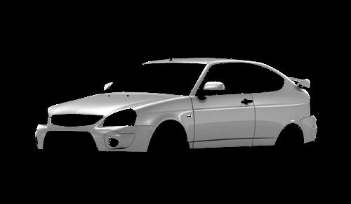 Цвета кузова Lada Priora 2172 Coupe